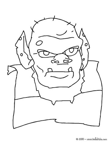 364x470 Ogre Face Coloring Pages