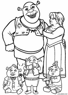 236x328 Shrek Coloring Pages Shrek