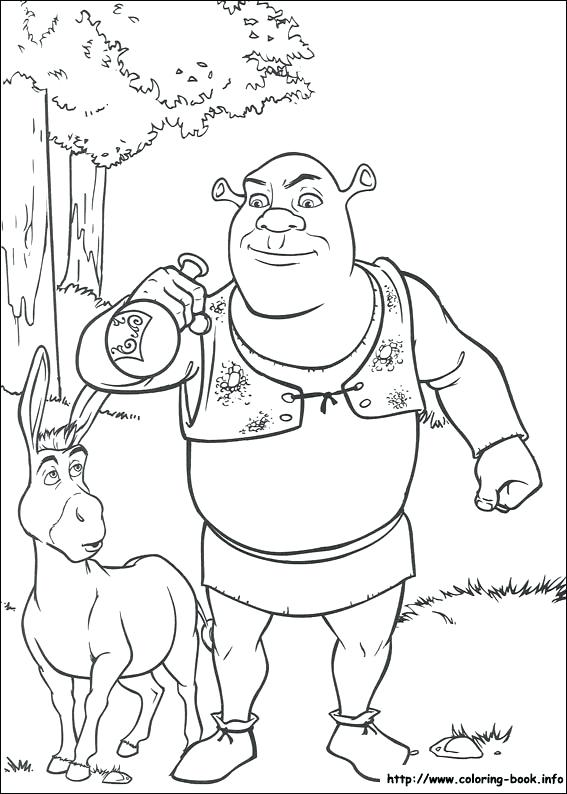 567x794 Coloring Pages On Coloring Shrek Coloring Pages Pdf Shrek Coloring
