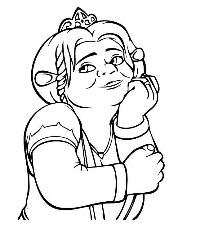 674x751 Fiona Ogre Coloring Pages