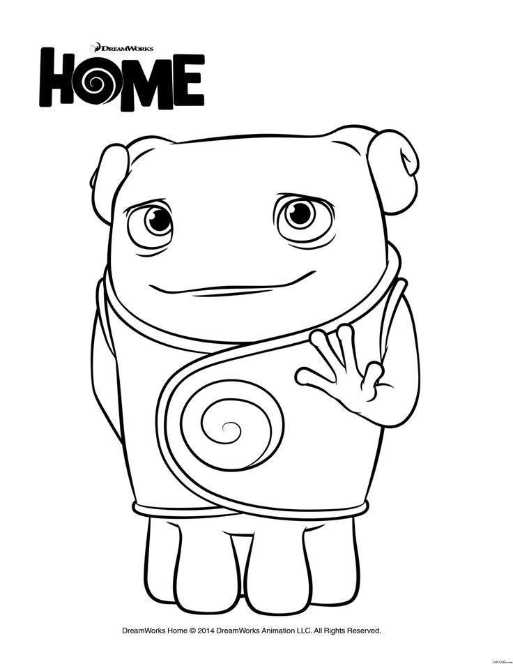 Oh From Home Coloring Pages