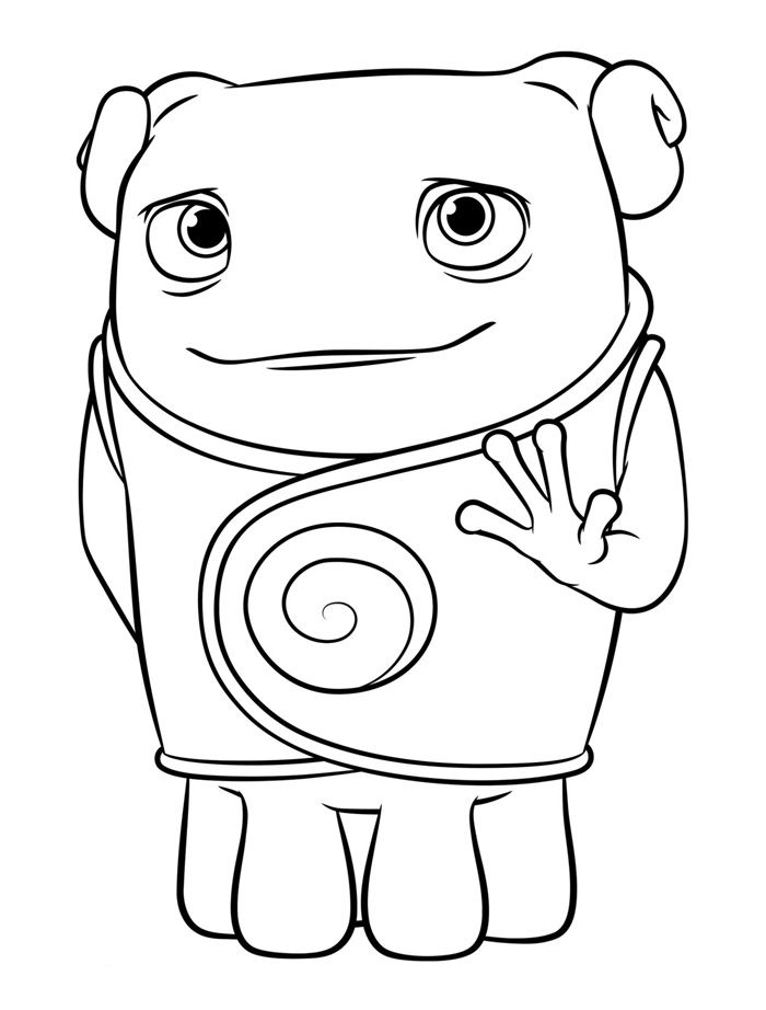 700x922 Dreamworks Home Coloring Pages Oh On Dreamworks Coloring Pages