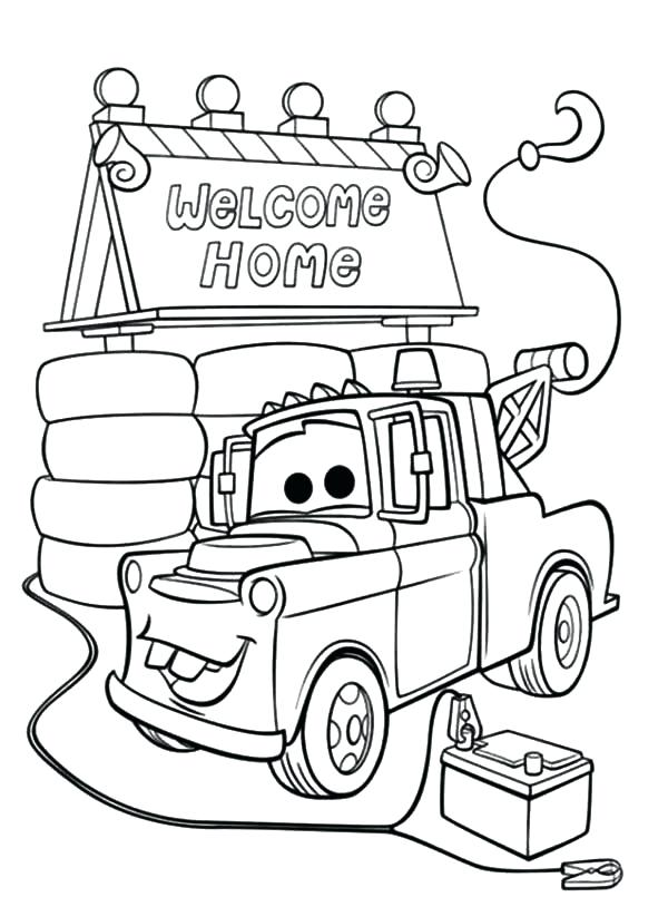 600x805 Home Coloring Page Cars Welcome Home Home Movie Oh Coloring Pages