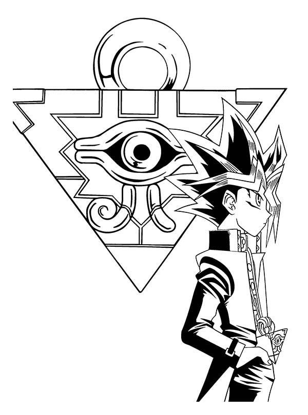 600x809 The Millenium Puzzle Yu Gi Oh Coloring Page