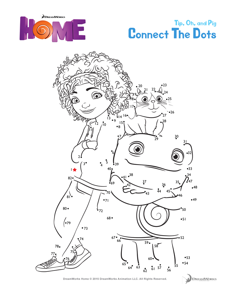 800x1035 Dreamworks Home Printables And Coloring Pages