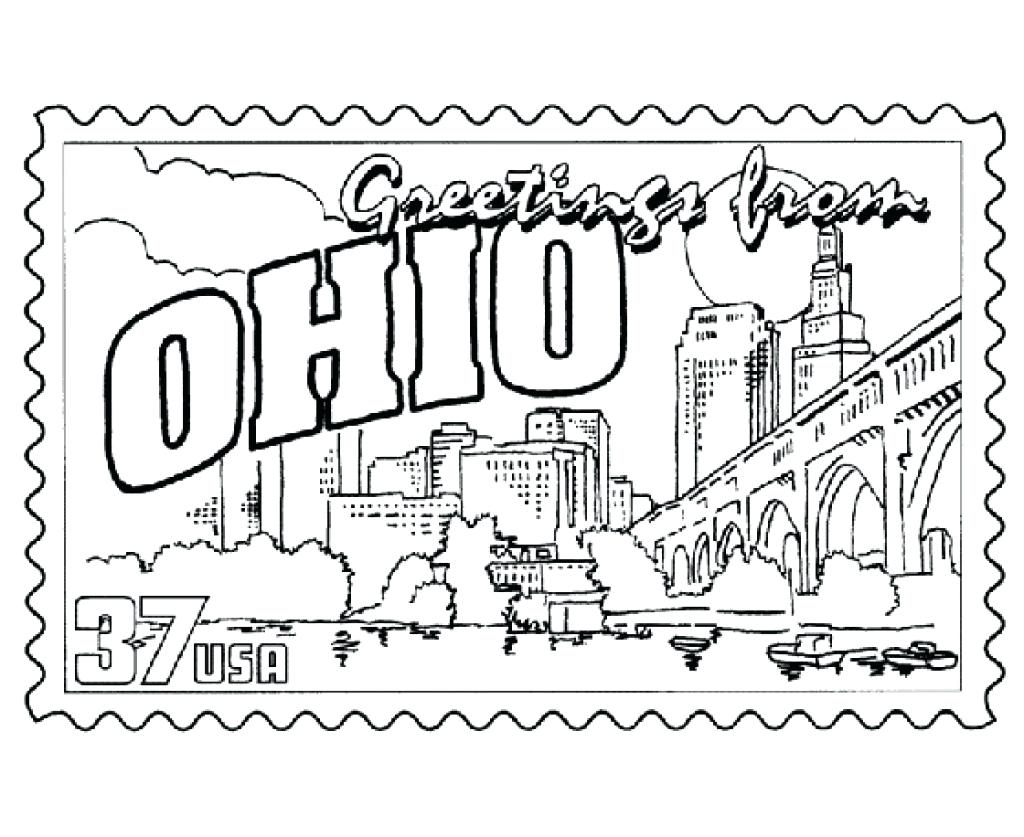 Ohio State Coloring Pages At Getdrawings Free Download