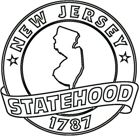 480x470 State Coloring Pages Click To See Printable Version Of New Jersey