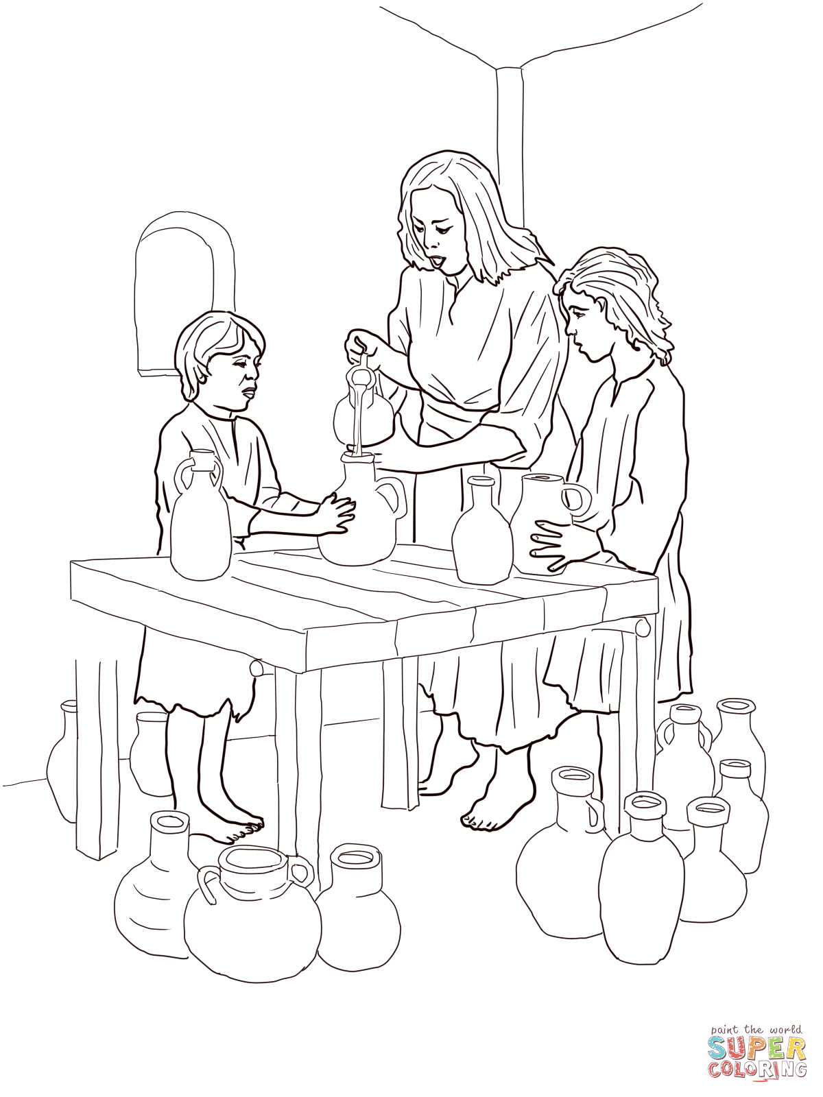 Oil Coloring Pages