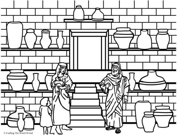 600x457 Elisha And The Jar Of Oil Coloring Page Elisha And Widow's Oil