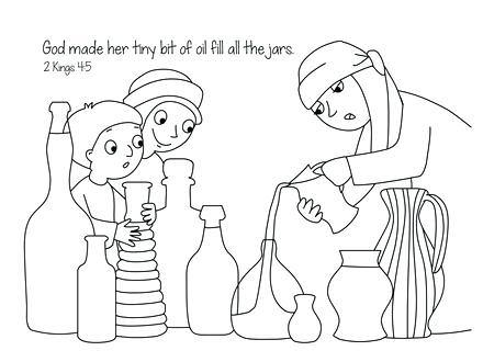 440x330 Elisha Jars Oil Coloring Pages
