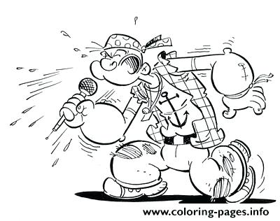 400x316 Popeye Coloring Pages As A Rocker Coloring Pages Popeye And Olive