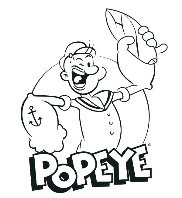 599x650 Popeye Coloring Pages Coloring Pages Top Rated Coloring Pages