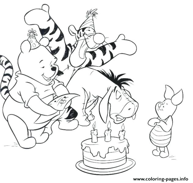 632x600 Popeye Coloring Pages The Pooh Happy Birthday Coloring Pages