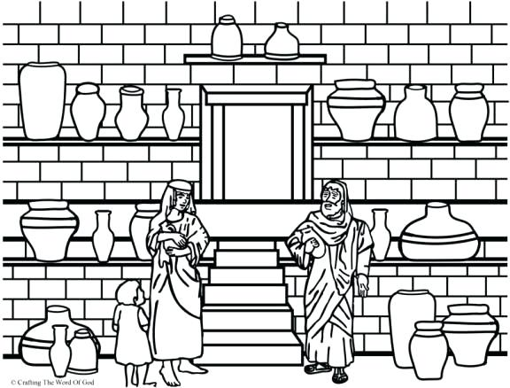 576x438 Coloring Pages Printable Animals And The Jar Of Oil Page Paper