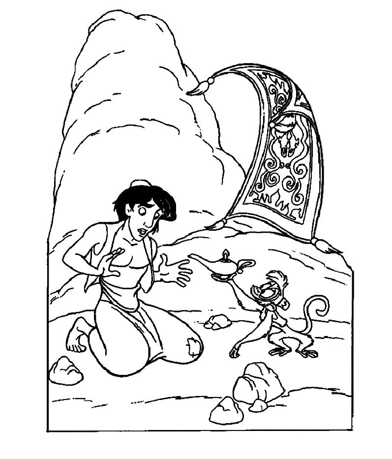 Oil Lamp Coloring Page