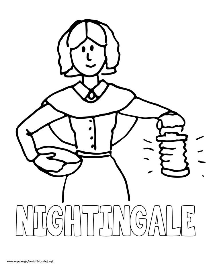 736x952 Florence Nightingale Colouring Oil Lamp Colouring Page
