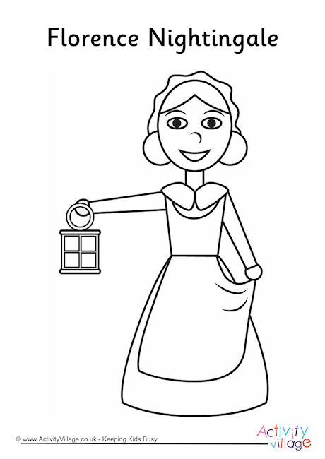 460x650 Florence Nightingale Colouring Page