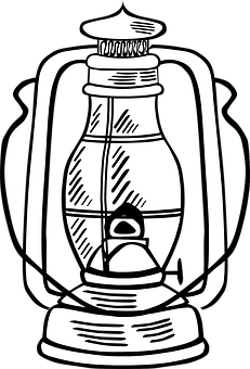 231x340 Oil Lamp Coloring Pages