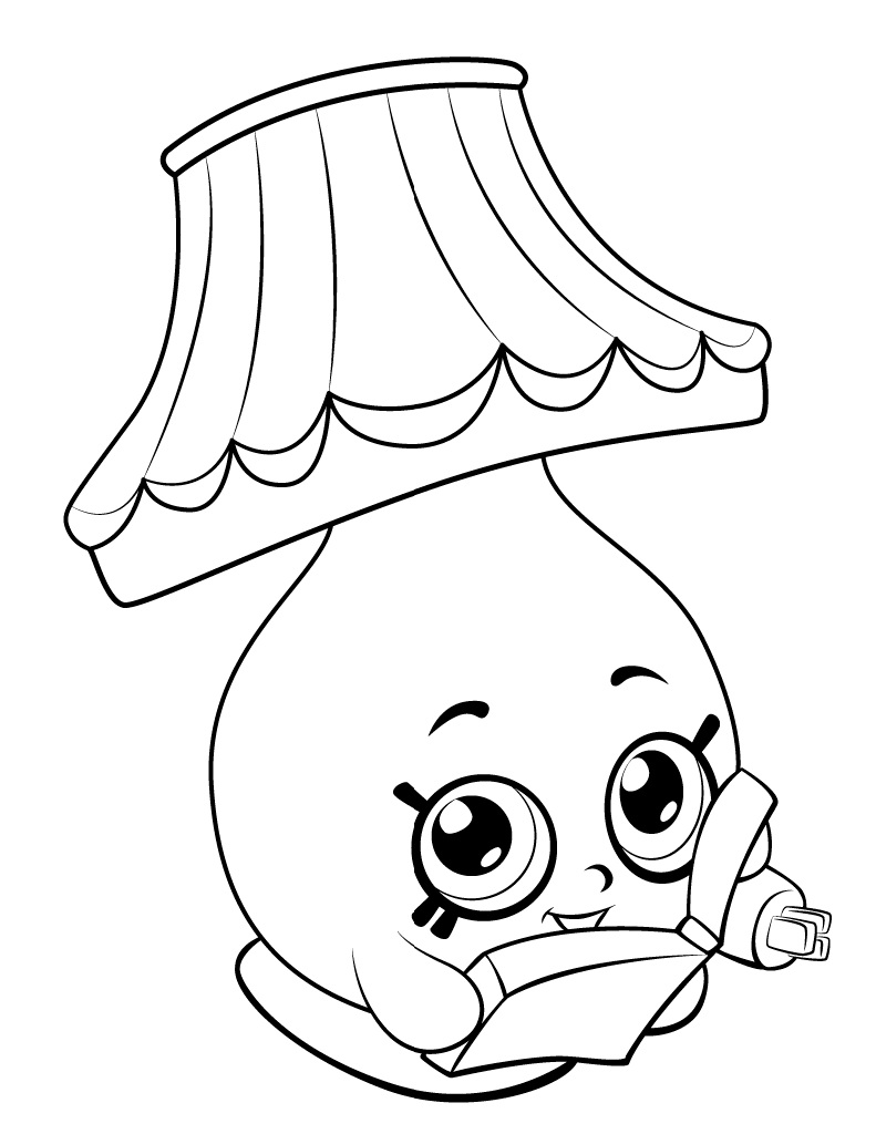 791x1024 Rollerblades Shopkins Coloring Page