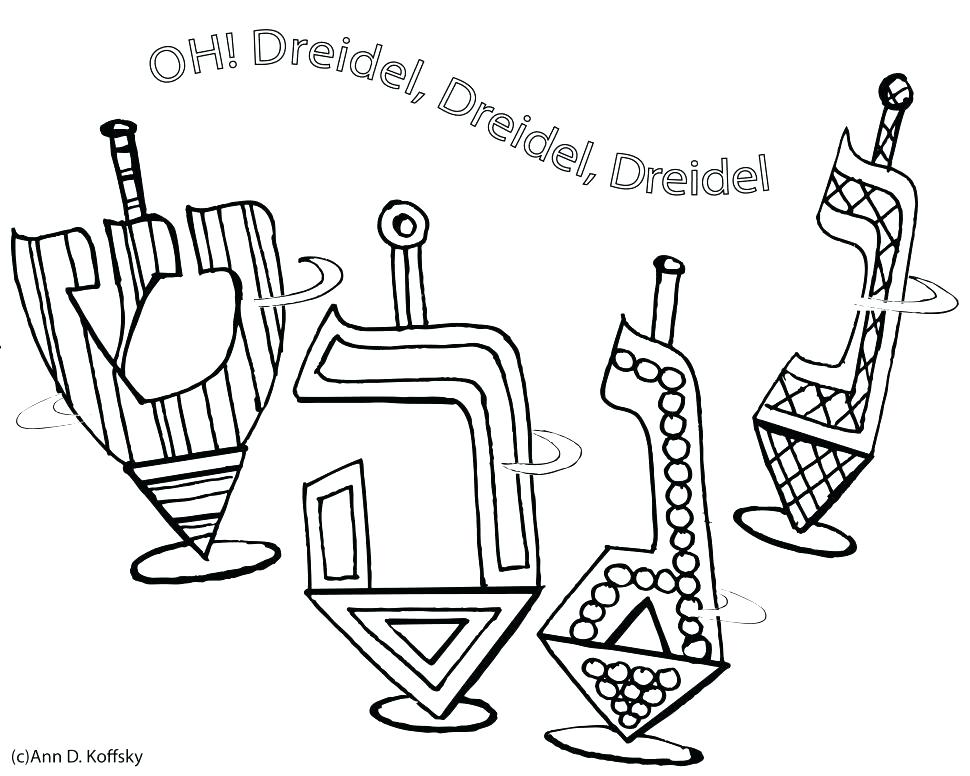 970x776 Dreidel Coloring Pages Coloring Page Oil Lamp Colouring Page