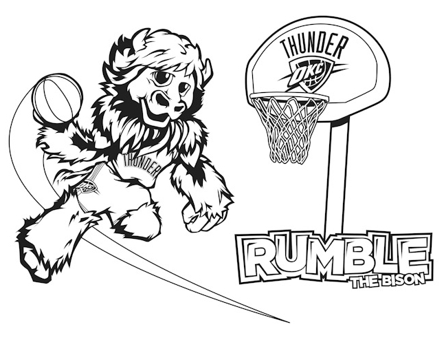 646x497 Okc Coloring Pages Rumble Kids Coloring Sheet