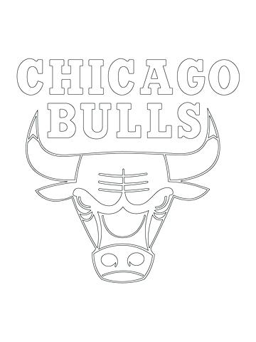 360x480 Oklahoma City Thunder Coloring Pages Bulls Logo Coloring Page
