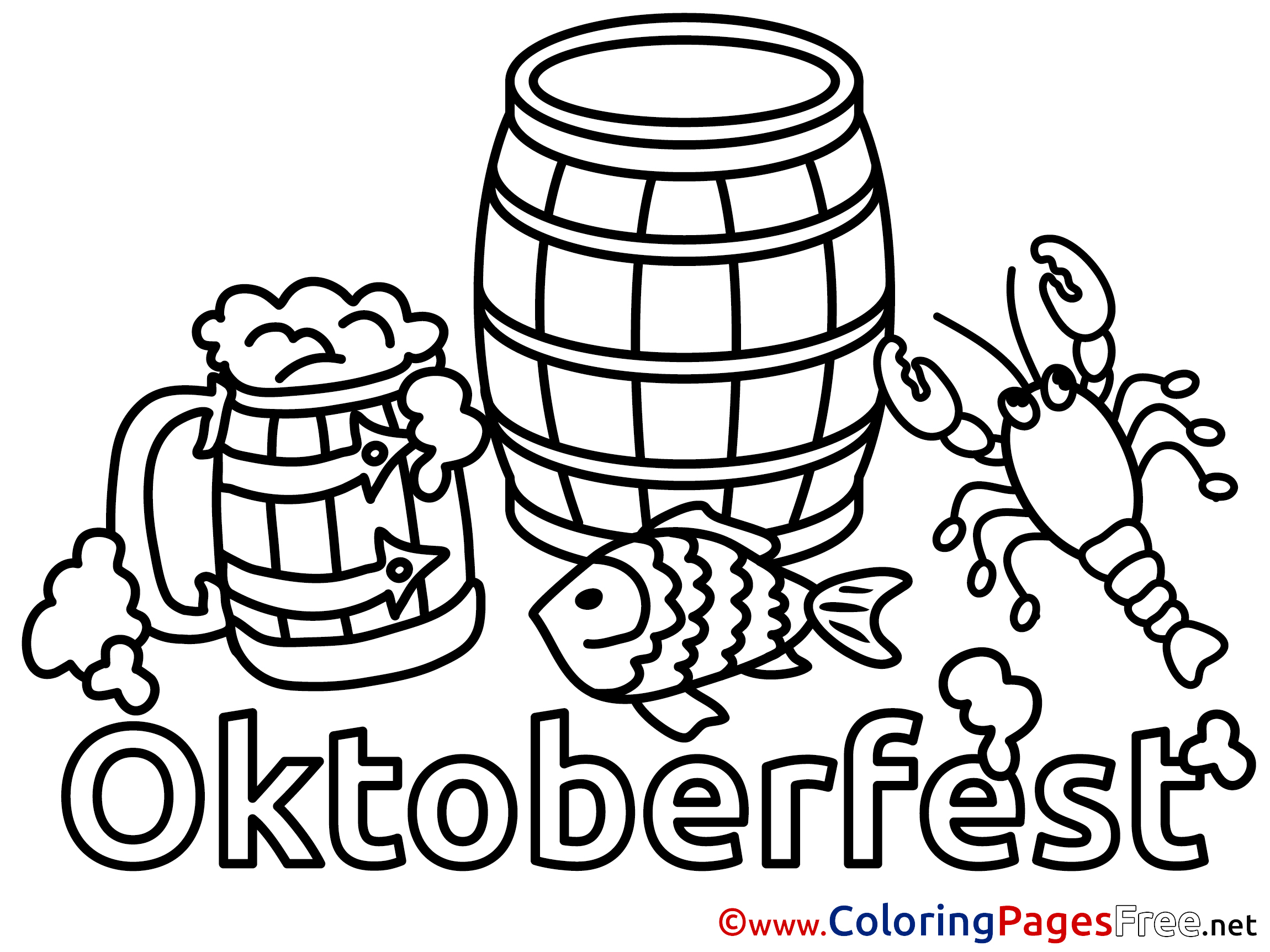 Oktoberfest Coloring Pages