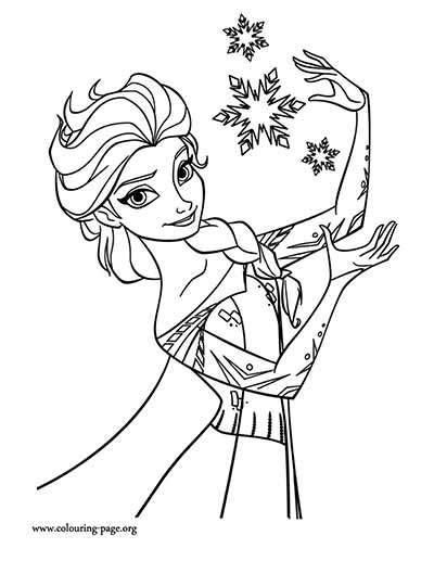 Olaf And Elsa Coloring Pages