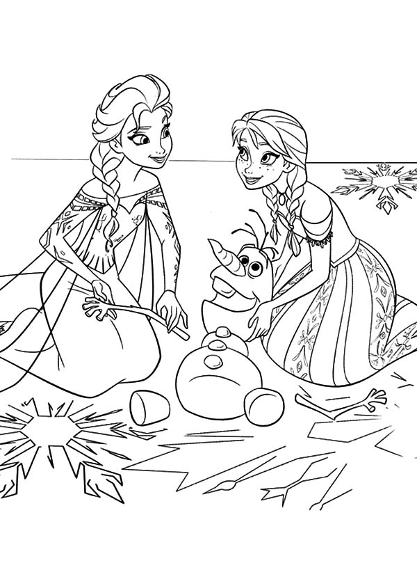 Olaf And Elsa Coloring Pages at GetDrawings.com | Free for personal ...