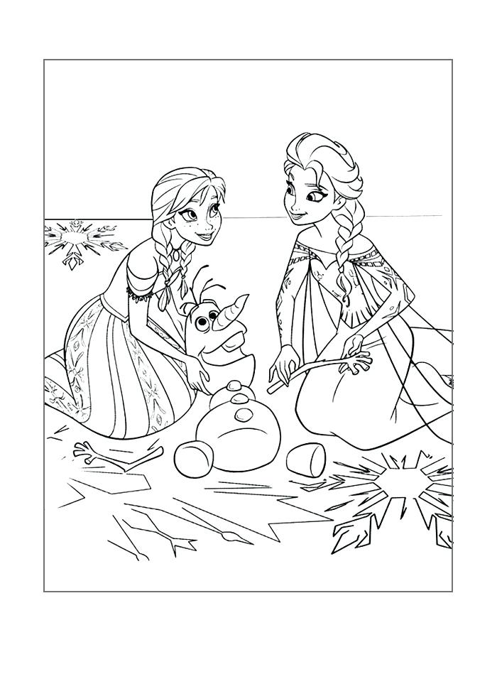 Olaf And Elsa Coloring Pages At Getdrawings Com Free For