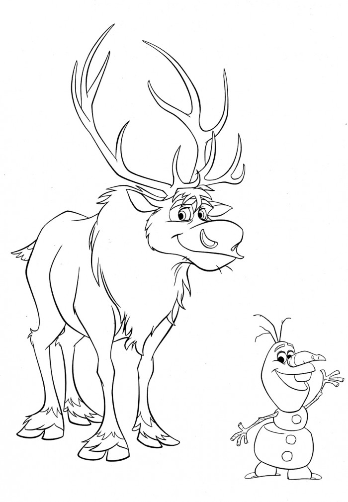 Olaf And Sven Coloring Pages At Getdrawingscom Free For