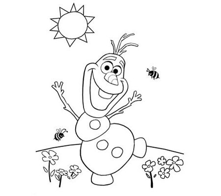 Olaf Christmas Coloring Pages