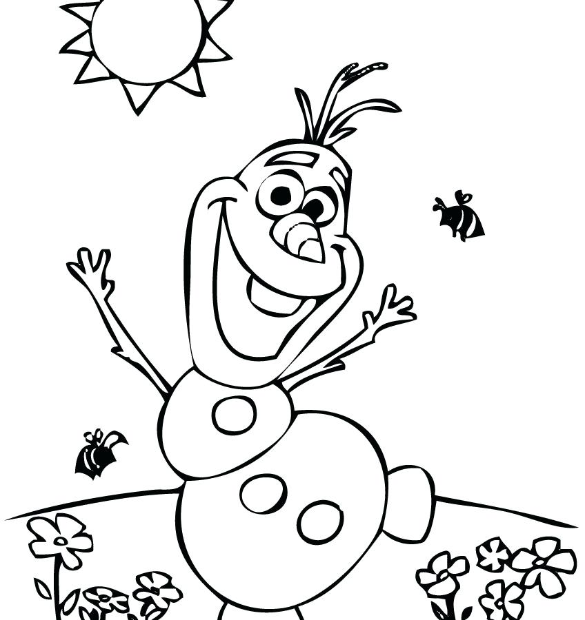Olaf Coloring Pages Free at GetDrawings.com | Free for ...