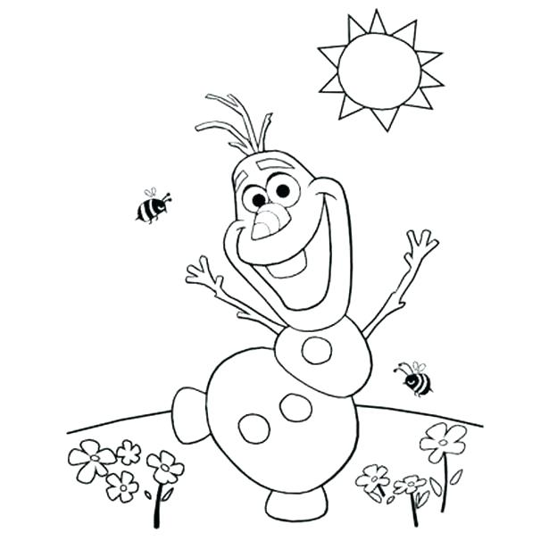 615x615 Printable Olaf Coloring Pages