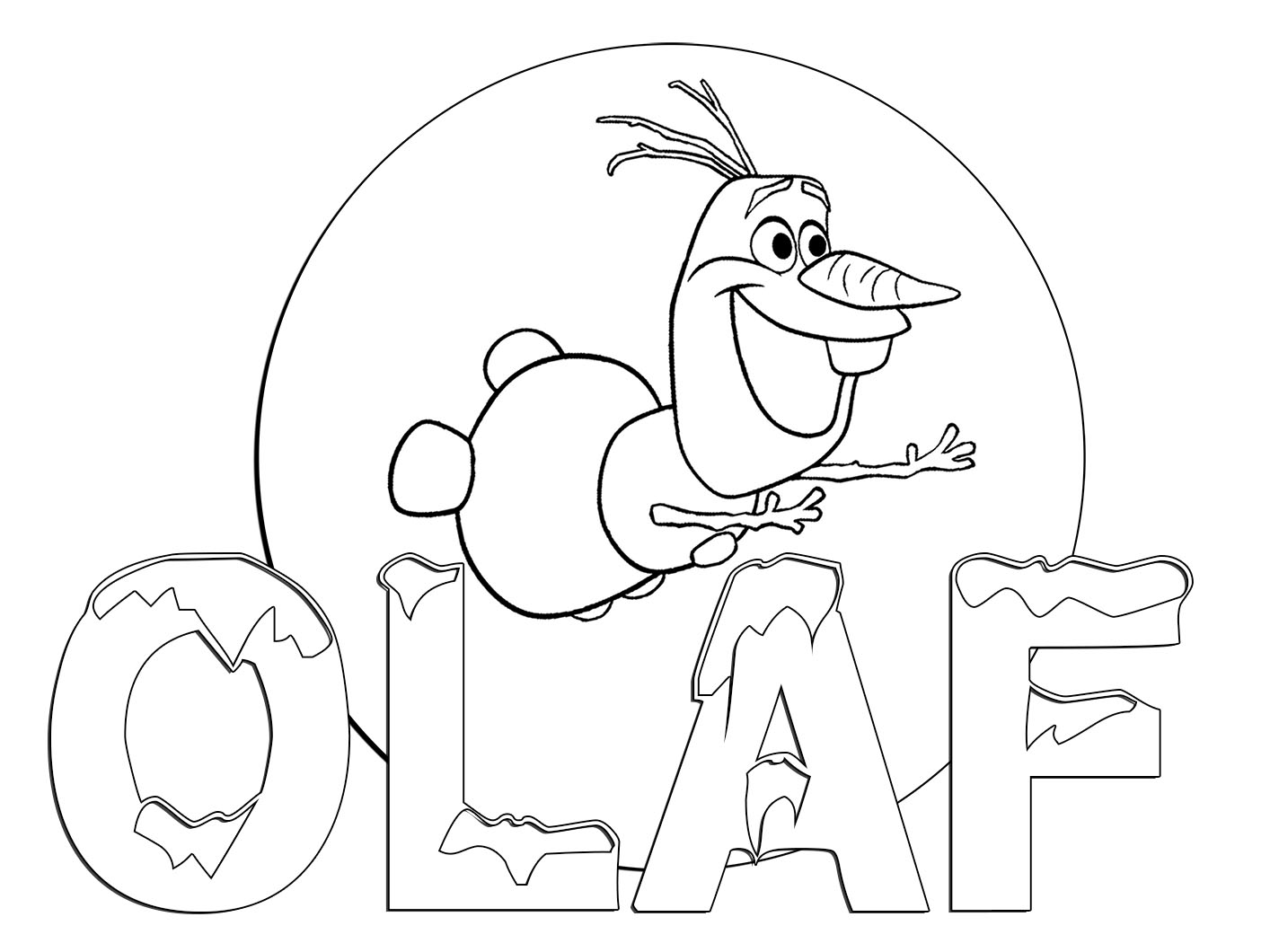 1414x1060 Innovative Frozen Coloring Pages For Adults Olaf Elsa In Disney