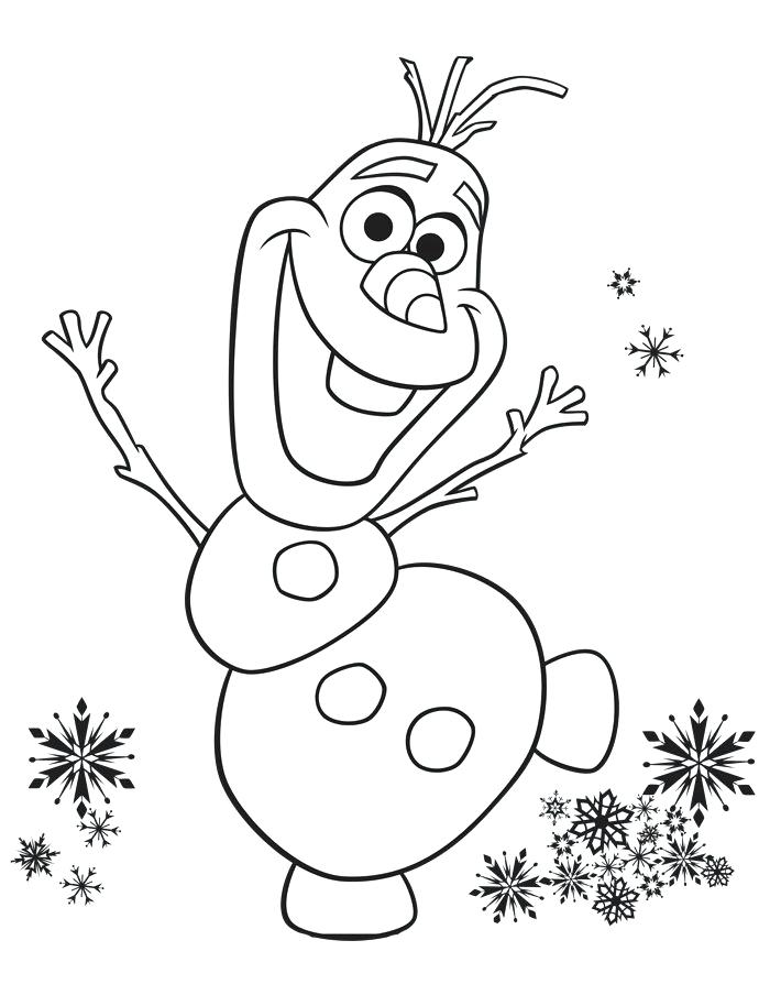 700x914 Olaf Coloring Pages
