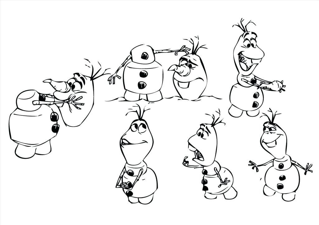 1024x723 Cute Olaf Coloring Pages Free Frozen To Download Page Freeze