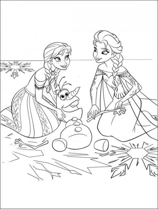 Olaf Printable Coloring Pages