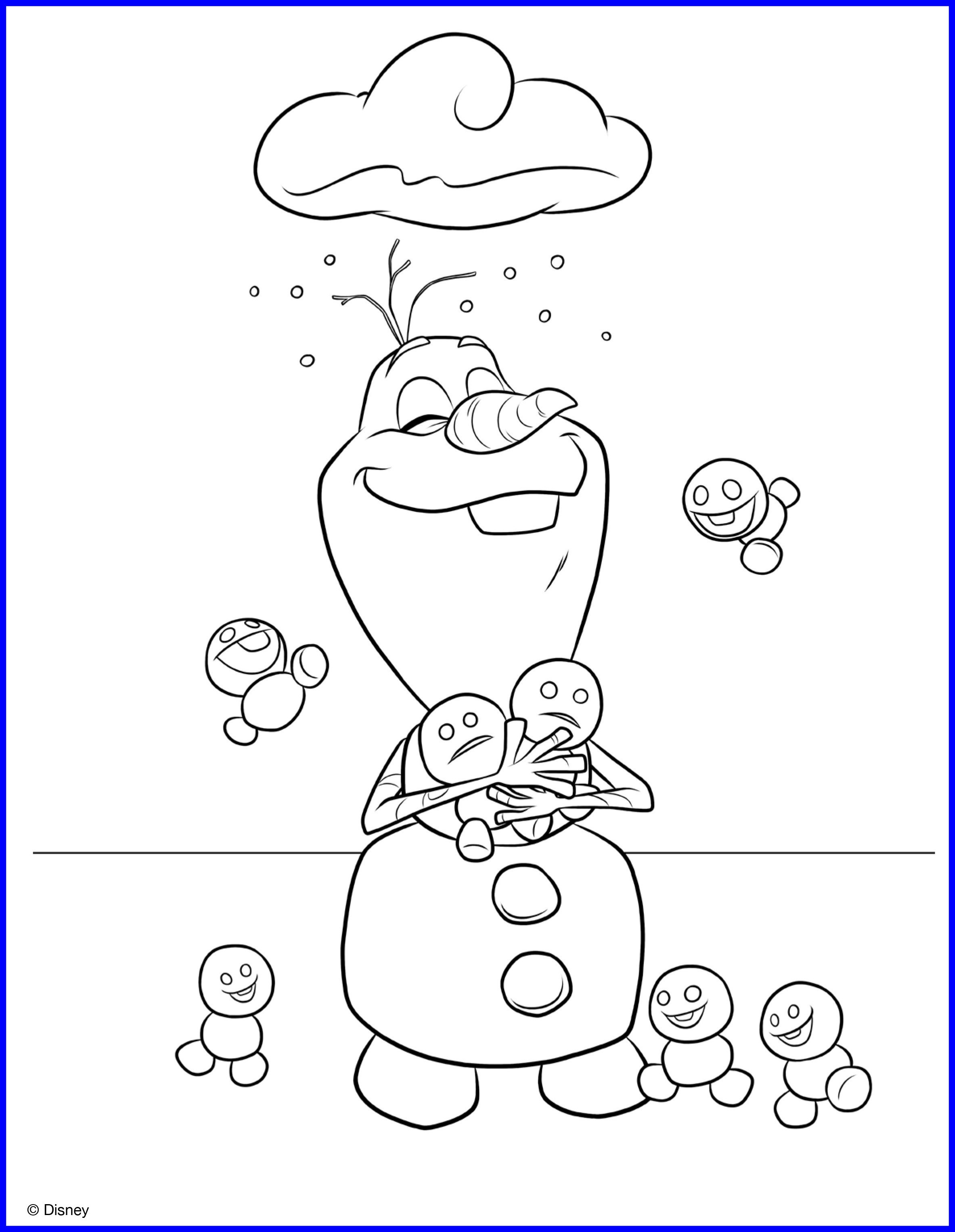 Olaf Printable Coloring Pages at GetDrawings.com | Free for ...