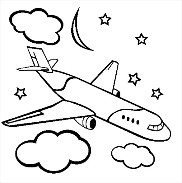 Old Airplane Coloring Pages