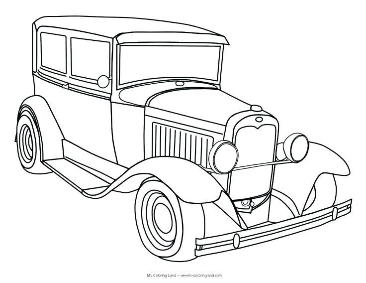 736x568 Classic Cars Coloring Pages Classic Car Coloring Pages Free Old