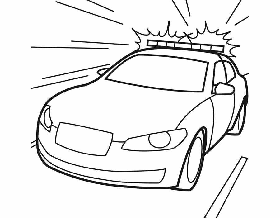 900x700 Police Car Coloring Page Old Car Police Coloring Page Police Car