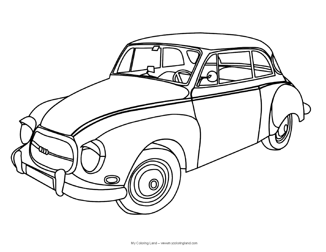 1056x816 Car Coloring Page