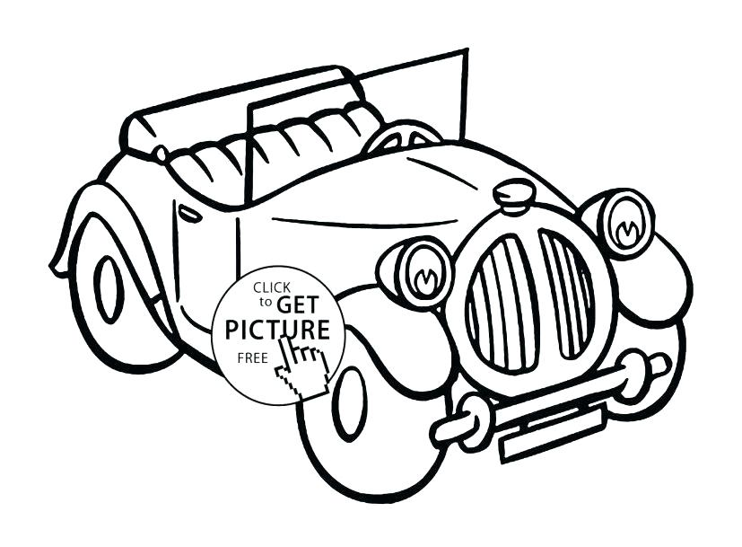 827x609 Classic Car Coloring Pages