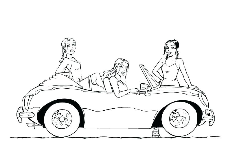 819x580 Old Car Coloring Pages
