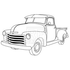 236x236 Old Cars Coloring Pages
