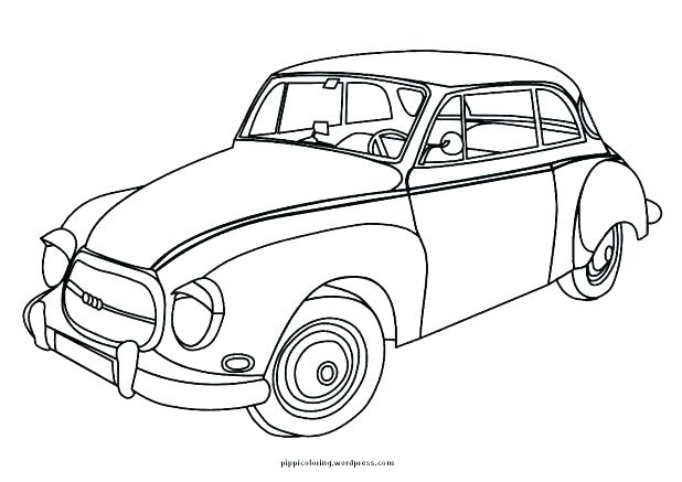 618x437 Old School Cars Coloring Pages