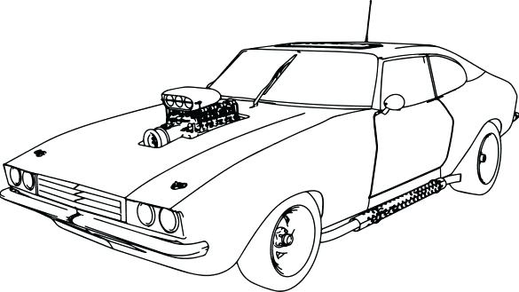 585x329 Car Coloring Pages And Coloring Book Muscle Car Old Sport Page