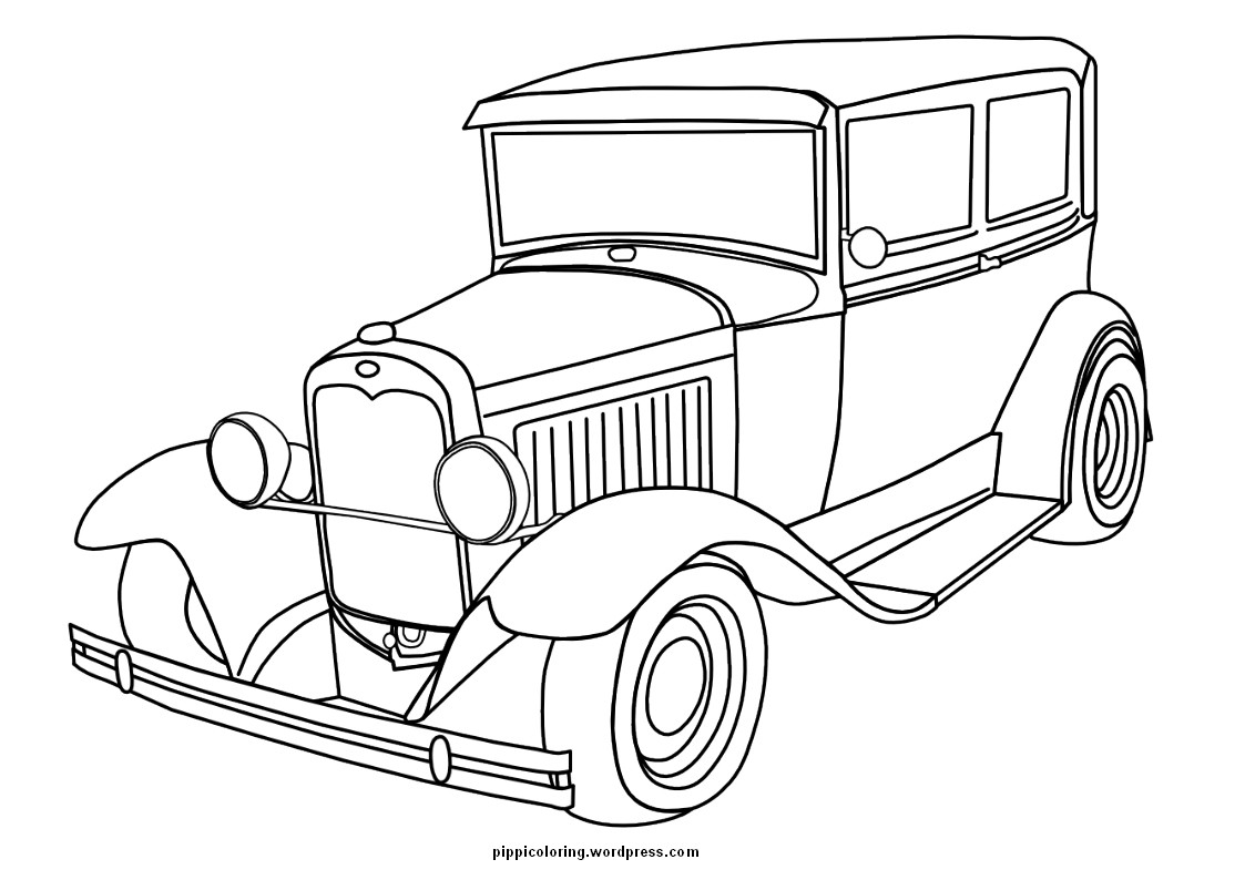 1123x794 Coloring Pages Antique Cars
