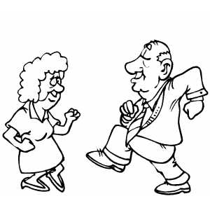 300x300 Old Pair Dancing Coloring Page